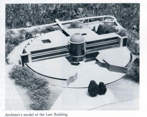 The architect's model of the Law Building.