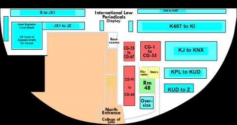 Ground Floor Map of the Law Library