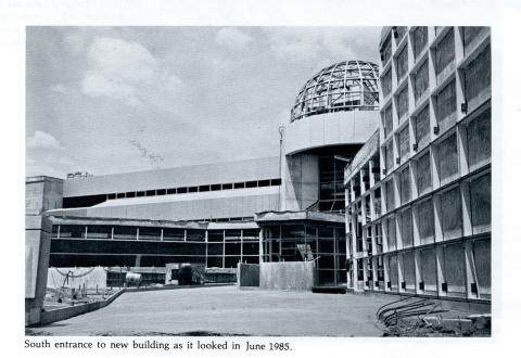 Boyd Law Building south entrance as it looked in June 1985.