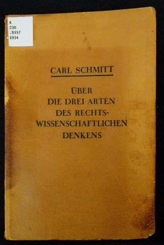 Carl Schmitt book cover