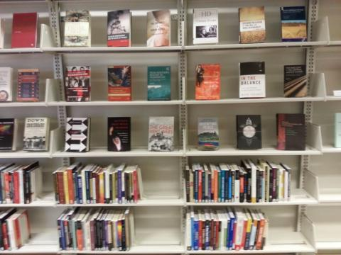 New books on law library shelves
