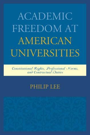 Academic Freedom at American Universities book cover