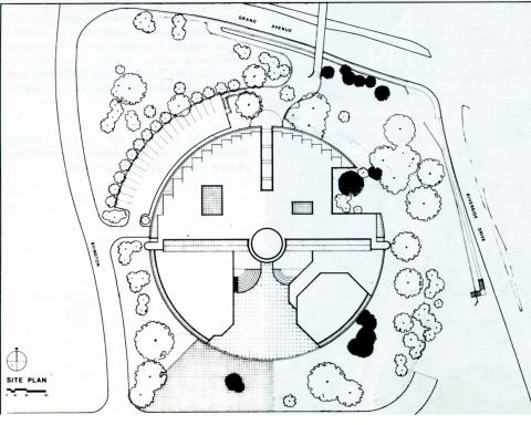 Site Plan for the construction of the Boyd Law Building