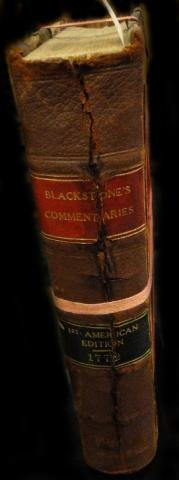 American Edition of Blackstone Commentaries Before Restoration