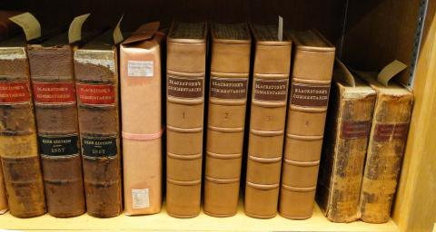 American Edition of Blackstone Commentaries After Restoration