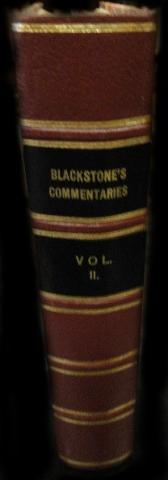 English Edition of Blackstone's Commentaries Before Restoration
