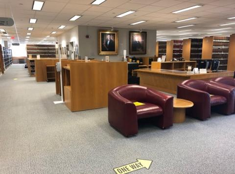 Law Library Main Level Reference Print Scan Area photo