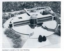 Architect's model of the Boyd Law Building.