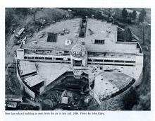 Aerial view of Boyd Law Building under construction.