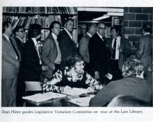 :egislative Visitation Committee tours the Law Library.